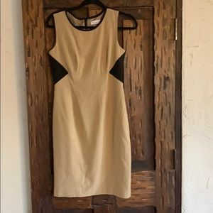 Two colored sleeveless dress